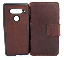 genuine leather case fit LG V40  wallet cover book holder magnetic detachable 40