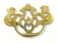 """Vintage Brass Chippendale Style Drawer Pull 3"""" Architectural Salvage Hardware"""