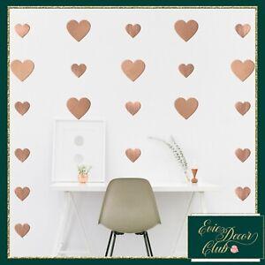 Rose gold Heart Wall Stickers Decal Child Decor Spot Child,Kids Baby Nursery Art