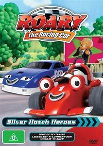 Roary The Racing Car - Silver Hatch Heroes + Crash test Roary 2dvd set brand new