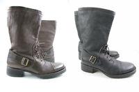 just Cavalli JC Herren Stiefel Boots leder Schuhe Grau Braun Neu 40  41 Uvp 439€