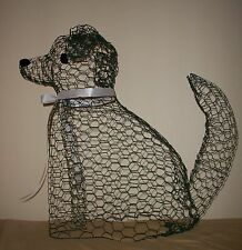 """2""  Units Topiary Frame Dog, 12 inches tall"