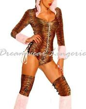 Sexy Dancer Clubbing Leopard Costume teddy leg warmers Size 8 10