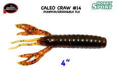 """CALEO CRAW 4"""" MOLIX COLORE #14 PUMPKIN / GREEN BLACK FLAKE"""
