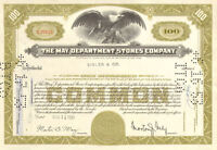 The May Department Stores Company > New York stock certificate > now Macy's
