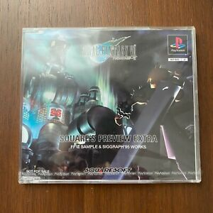 Final Fantasy VII FF7 Early Build Demo Square's Preview Extra PS1 Playstation