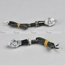 2x Black Motorcycle ATV Mini LED Turn Signal Indicator Light Amber Universal J31