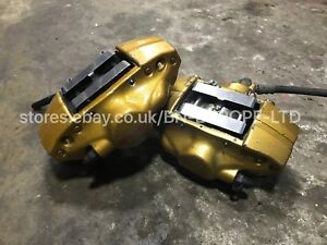 SUBARU IMPREZA REAR 2 POT GOLD BREMBO BRAKE CALIPERS WRX STI JDM TURBO 01-07