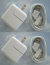 2 SETs - 12 Watt 2.4 AMP Wall Charger for iPad 2,3,4,5 USB and sync CABLE 30 pin