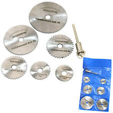 7Pcs/set High Speed Steel Saw Blade Electric Grinder Drill With 3.2Mm Rod