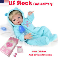 "Full Body Silicone Anatomically Boy 22"" Reborn Baby Dolls Realistic Doll Gifts"