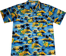 "Hawaiian Shirt ""Summer Beach (blue)"" / M - 6XL / Mens Hawaian Shirts / Hawaii"