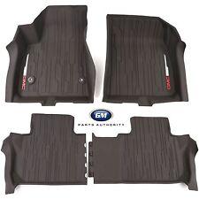 2017-2018 GMC Acadia Floor Liner Package Cocoa Front & Rear Genuine OEM GM