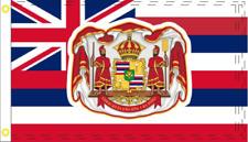 Hawaii Royal Crest Us 3x5 Foot 100D Flags Uv Protected Waterproof Hawaiian