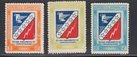 Dominican Rep 1945 Communications  Sc 417-19  Mint Never Hinged