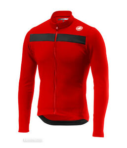 NEW Castelli PURO 3 Long Sleeve Cycling Jersey : RED