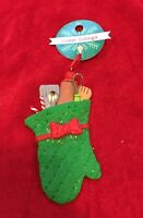 Christmas tree ornament Green Oven Mitt New Sweet Tidings Pot Holder Baking