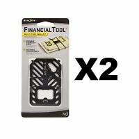 Nite Ize Financial Tool Black Credit Card Size 7-in-1 Multi Tool (2-Pack)