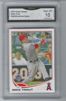 MIKE TROUT GMA GEM MINT 10 TOPPS UPDATE 2013 Baseball #US300 ANGELS All-Star