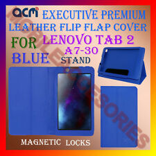 ACM-EXECUTIVE LEATHER FLIP CASE for LENOVO TAB 2 A7-30 TAB COVER STAND NEW- BLUE