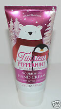 NEW BATH & BODY WORKS TWISTED PEPPERMINT NOURISHING HAND CREAM LOTION 2OZ TRAVEL