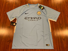 2017-18 Nike Breathe Manchester City Men's Home Soccer Jersey Extra Large XL