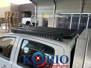 ALUMINUM ROOF BASKET DUAL CAB PLATFORM FLAT ROOF RACK SUITS TRITON 1350x1250 mm