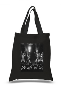 Shopper Tote Bag Cotton Black Cool Icon Stars Little Mix Ideal Gift Present
