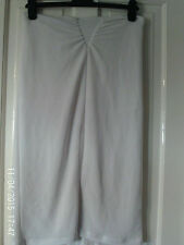 WHITE  LINED PENCIL SKIRT, SIZE LARGE