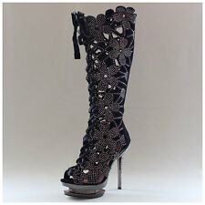 Pleaser USA Stiefel Gr. 40 Day & Night High Heels Fantasia 2020 Leder (#2554)