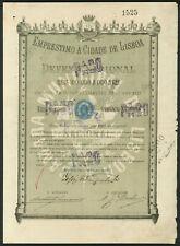 More details for portugal: emprestimo á cidade de lisboa (city of lisbon), bond for 10 mil rei...
