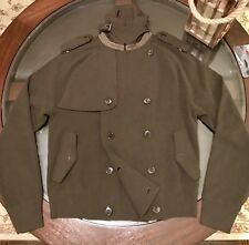 Ralph Lauren Black Label Sweater Jacket Merino Wool & Leather Accents Olive Sz M