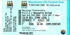 Ticket - Manchester City v Newcastle United 02.02.05