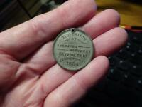 CIVIL WAR DEDICATION MEDAL 1884 SOLDIERS MONUMENT DAYTON OHIO