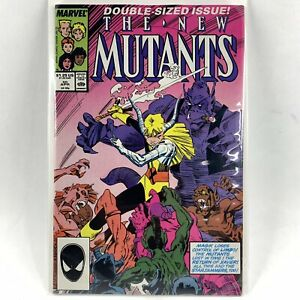 Marvel Comics New Mutants Issue 50 Double Sized Illyana Magik 1987 Warlock