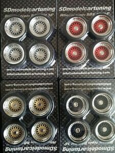 1:18 Scale BBS RM 16 INCH TUNING WHEELS, wheel logos now included NEW!!