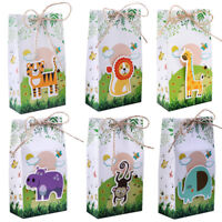 60×Baby Shower Jungle Safari Zoo Theme Candy Box Safari Animal Treat Gift Bags