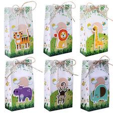 12x Safari Animals Favor Box Gift Bags Jungle Birthday Themed Party Candy Box