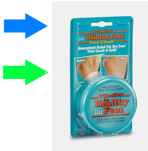 O'Keeffe's HEALTHY FEET Foot Cream Lotion Moisturizing Dry Cracked Split 3.2oz