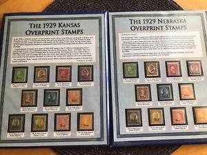 US Scott #658-679 1929 Kans-Nebr. Overprints MNH Complete Set