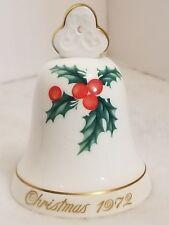 Noritake Christmas 1972 Bell Collector Series No 1 Limited Bone China 3 1/2