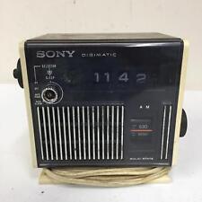 Sony Digimatic TR-C340 No Turn Flip Alarm Clock AM/FM Radio Missing 1 Knob