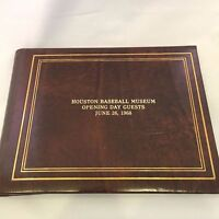 1968 HOUSTON SPORTS BASEBALL MUSEUM SIGNED GUEST BOOK WITH HUNDREDS OF AUTOGRAPH