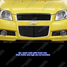 Fits 2009-2011 Chevy Aveo 5 Door Hatchback Black Billet Grille Grill Insert T255
