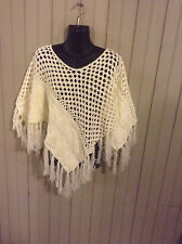 New w/ tags! Vintage Stylebrook white shawl poncho wrap one size (sm/med)