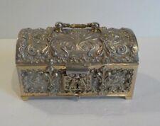 German Embossed Silver Jewelry Casket, Georg Leykauf, Germany
