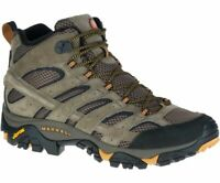 Merrell Men's Moab 2 Mid Ventilator Hiking Boots - Walnut - Wide Width