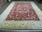 10' X 14' Vintage Hand Made PESHAVAR CHOBI Pakistani Agra wool Carpet Nice