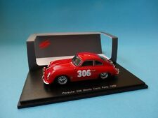 PORSCHE 356 #306 - L.STROSS - RALLY MONTE CARLO 1958 - 1/43 NEW SPARK S1354