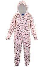 Children's Zip Front Hooded Star Print Girls Comfy Sleepsuit Onsie All On One